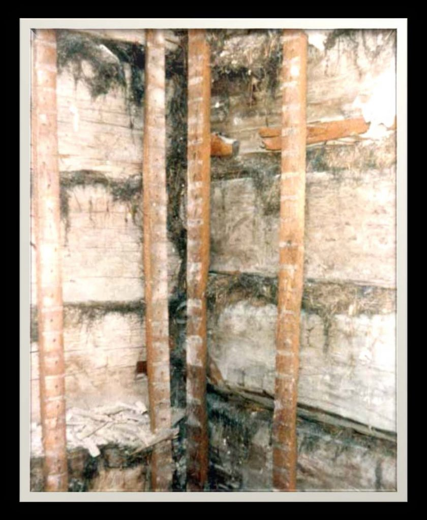 Intérieur des murs de la maison de 1778