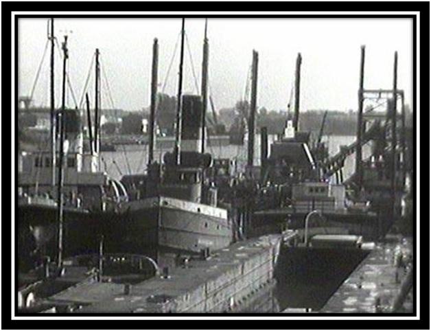 Les bateaux dans le Port de Sorel Muséée McCord