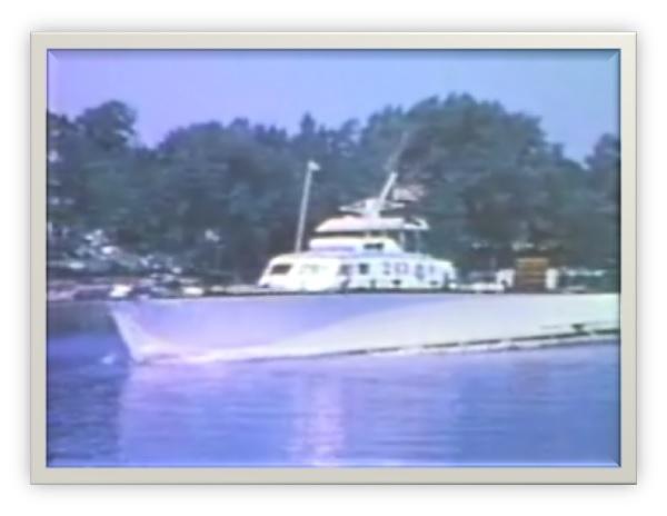 Photos tirées d'un film super 8 en 1960 sur le fleuve St-Laurent