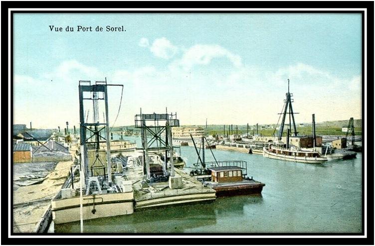 Les bateaux dans le port de sorel 1790 1920 suite 1 for Porte fenetre boulet sorel tracy