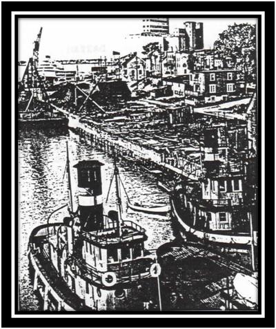 Les remorqueurs dans le port de Sorel en 1940 A.N.O.