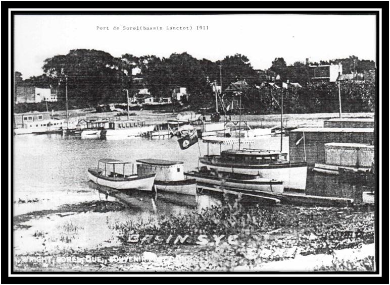 Le porte de Sorel en 1911 (Bassin Lanctôt) Collection privée W Wright