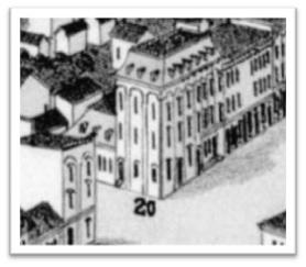 Vue de Sorel à Vol D'Oiseau 1881 ANO