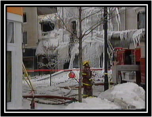 Les photos du feu du Centre Carleton en janvier 1999 Collection privée