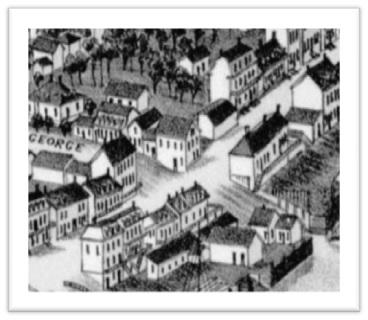 1866-1867 H Setwell ANO Le lot H la maison appartenaient aux héritiers Dorge