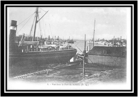 Vue du port de Sorel 1910 Collection privée