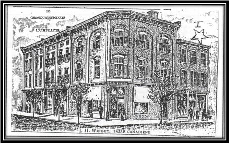Le chiffre 1 où est l'étoile, c'était l'Hôtel Piché Sorel Illustré de 1889 ANQ
