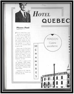 Hôtel Québec 2/4 /6/8 rue George lots 667-668-669
