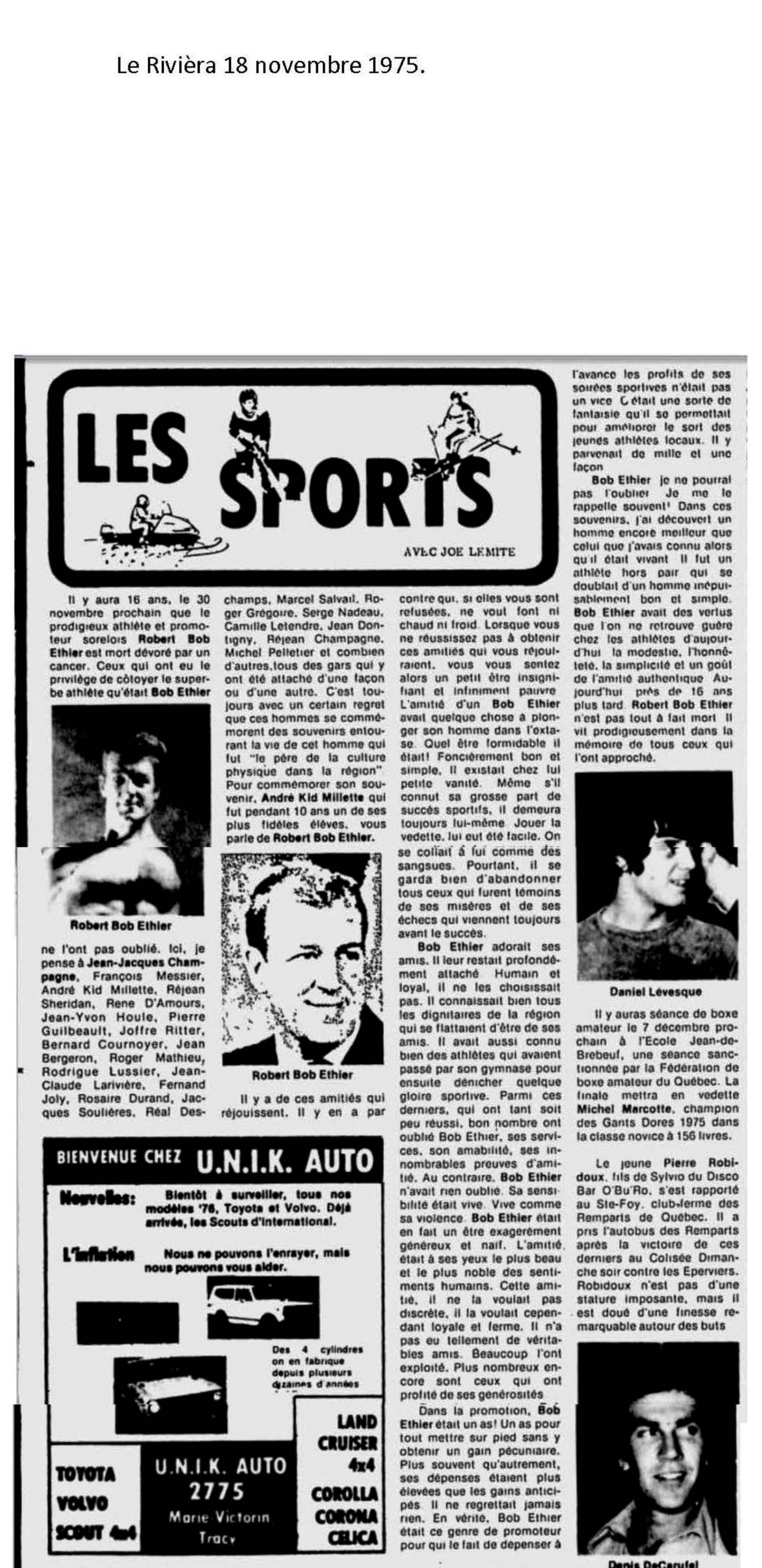 Le Rivièra 18 novembre 1975