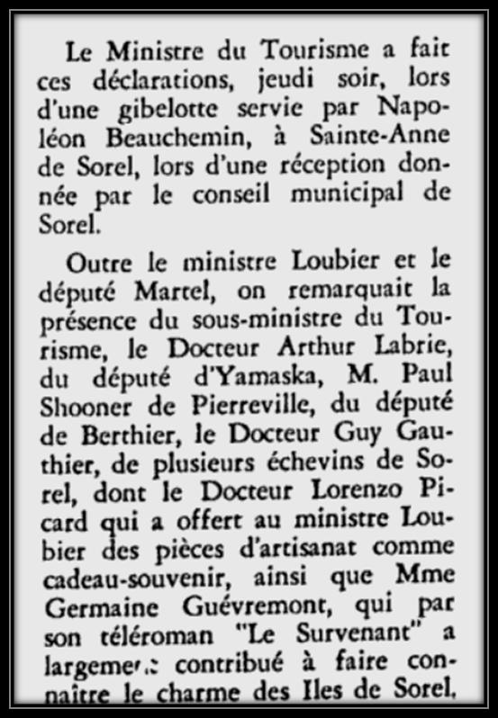Courrier de Berthier le 25 aout 1966