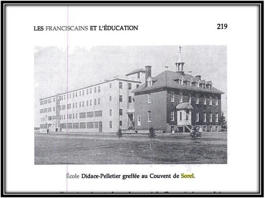 Cette photo tirée du livre Les Franciscains au Canada 1890-1990 page 219