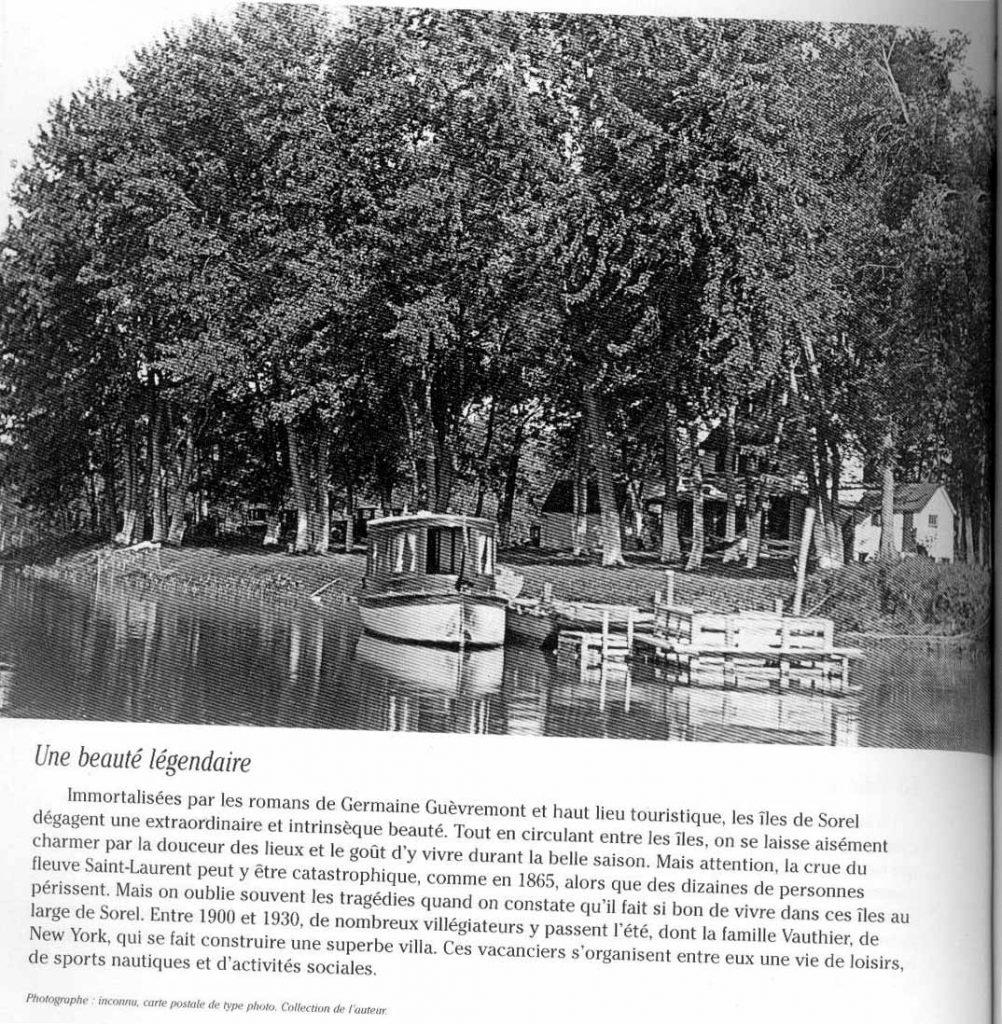 14-Chalet des Paul Hus au chenal de l'Ile aux Fantômes en 1940
