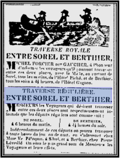 Journal Les Campagnes 22 août 1850 Archives Nationales du Québec