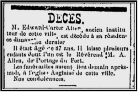 Le Sorelois le 6 janvier 1888