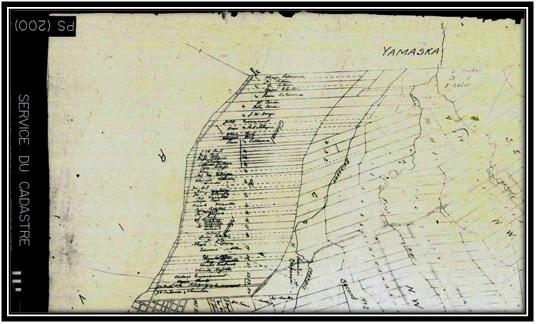 Cadastre de Sorel en 1857 Archives Nationales du Québec Lots 19-20 propriété de Edward Carter Allan