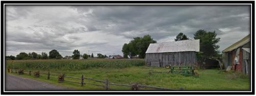 Vue arrière de la ferme expérimentale et l'école d'agriculture St-Lawrence 'Edward Carter Allan en 1857
