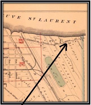 Carte Hopkins 1880 Archives Nationales du Québec Lieu où étaient la maison et la ferme expérimentale St-Laurent