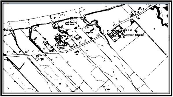 On remarque sur cette carte de 1866-1867 Setwell St-Lawrence Cottage. Archives Nationales du Canada.