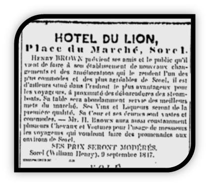 HÔTEL DU LION HENRY BROWN 2