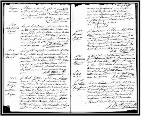 Mariage de Thomas Brown et Catherine Morgan de Ste-Croix de Lotbinière le 30 octobre 1832. Ancestry.com