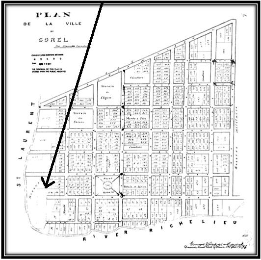 Carte et plans de la ville de Sorel par Alexandre Larochelle 1877 Archives Nationales du Canada