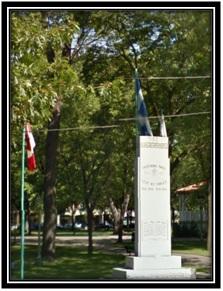 Google Mapp 2011  Monument aux braves dans le Parc Royal à Sorel 1914-1918-ET -1939-1945