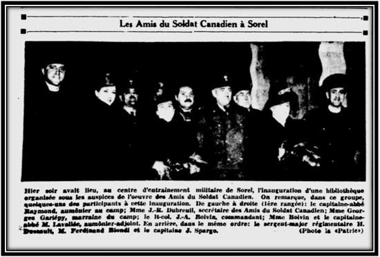 Le Courrier de Sorel le 4 décembre 1942 Archives Nationales du Québec.