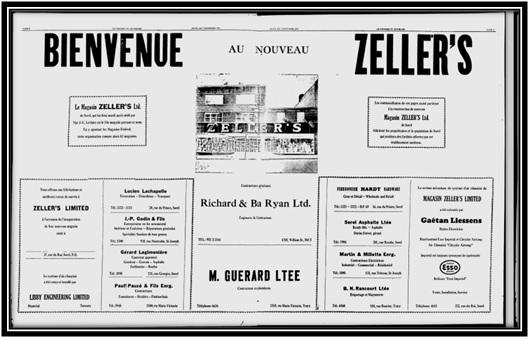 Le Progrès du Richelieu le 7 novembre 1957